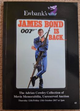 2017 Movie Memorabilia Collection James Bond Auction Book